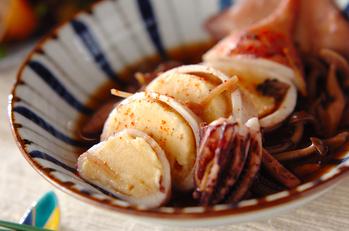 イカのハンペン詰め煮