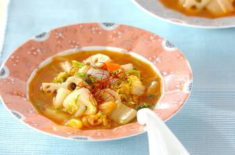 白ネギとタラのキムチスープ