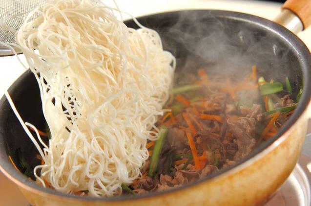 チャプチェ風素麺の作り方の手順9
