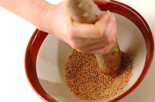 春の味覚!タラの芽のゴマみそ和えの作り方の手順6