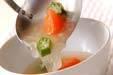 トマトとオクラのスープの作り方5
