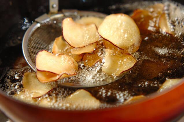 サツマイモチップの作り方の手順3
