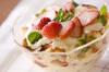 イチゴチーズトライフルの作り方の手順