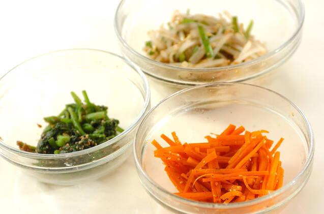 レンジナムル素麺ランチの作り方の手順2