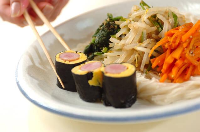 レンジナムル素麺ランチの作り方の手順4