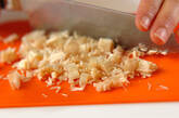 エノキ納豆のサラダ巻きの作り方1