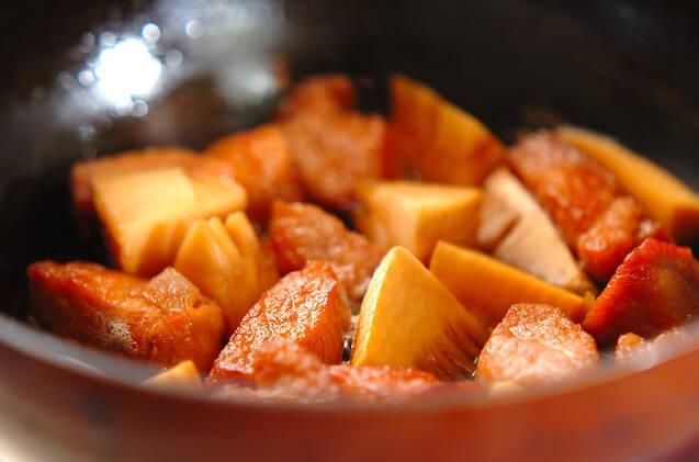 タケノコと豚肉の煮物の作り方の手順6