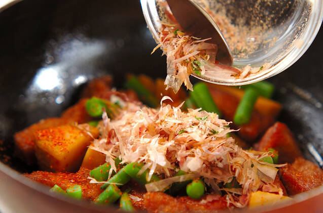 タケノコと豚肉の煮物の作り方の手順7