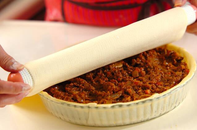 冷凍パイシートで簡単!大きなポテトミートパイ風の作り方の手順8