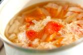 トマトのふんわり卵白スープの作り方2