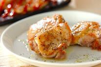 こんがり鶏肉の黒コショウ焼き