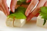 豆腐の明太はさみ焼きの作り方1
