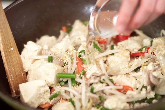 豆腐チャンプルーの作り方の手順4