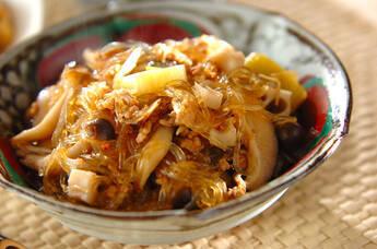 春雨とキノコの中華煮