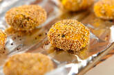 カボチャのチーズ入りゴマ団子の作り方4