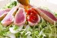 カツオのたたきサラダの作り方2