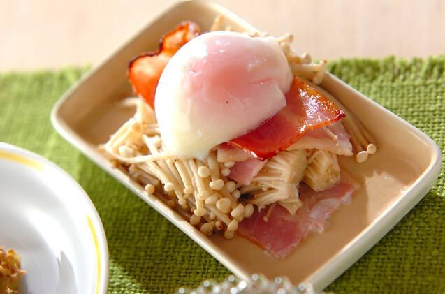 エノキとベーコンのサンド焼き