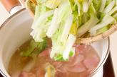 白菜の干し貝柱風味煮の作り方2