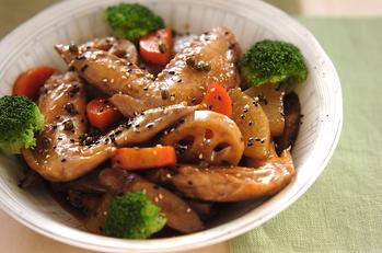 根菜と手羽先のうま煮