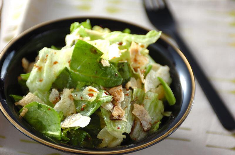 5. レタスとほうれん草のサラダ