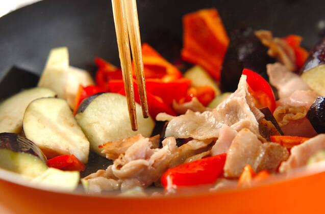 ナスと豚肉のみそ素麺の作り方の手順6