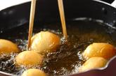 栗の揚げドーナツの作り方2