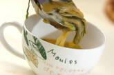 チンゲンサイ入りコーンスープの作り方6