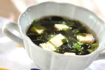 つるりん豆腐のスープ