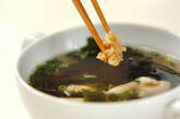 ささ身とワカメのスープの作り方2