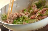 豆腐と豚肉の炒め物の作り方2