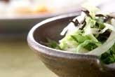 レタスとヒジキのサラダ