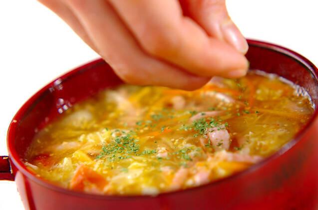 せん切りキャベツのスープの作り方の手順7