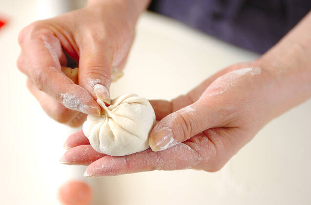 モモ(ネパール版蒸し餃子)の作り方の手順7