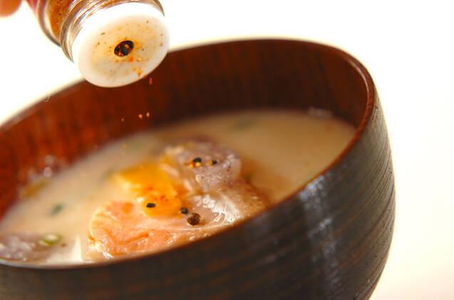 塩鮭入り粕汁の作り方の手順9