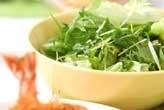 水菜とレタスのサラダ