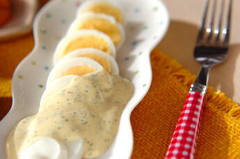 ゆで卵のハーブマヨソース