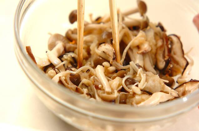 炒めキノコのおろし和えの作り方の手順7