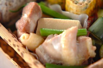 鶏と高野豆腐の煮物