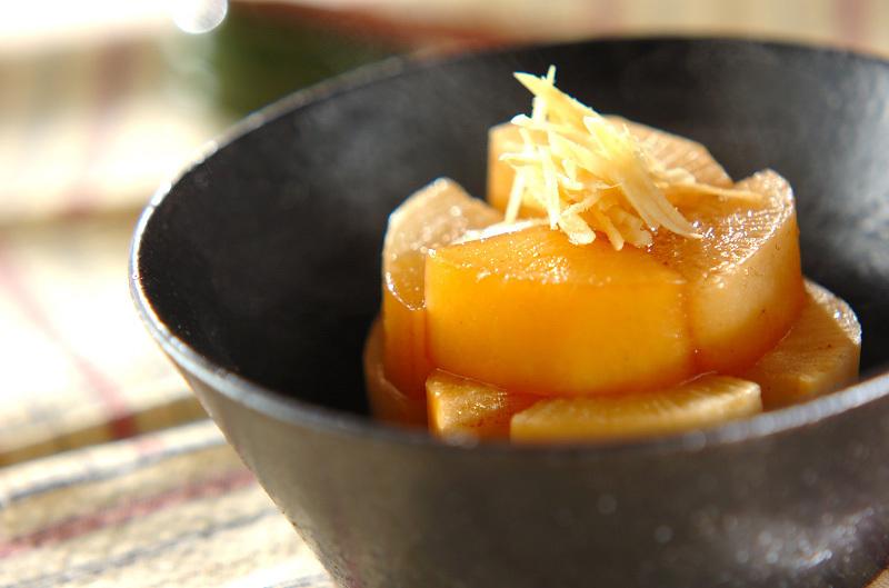 大根の煮物と生姜