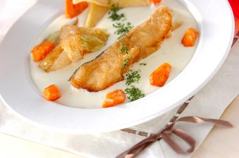 白身魚・ホワイトソース