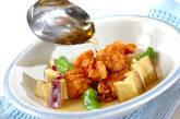 鶏唐揚げのスープ仕立ての作り方8