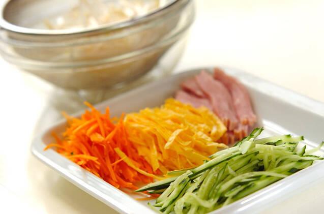 具だくさん冷麺の作り方の手順2