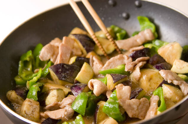 ナスと豚肉の味噌炒めの作り方の手順3