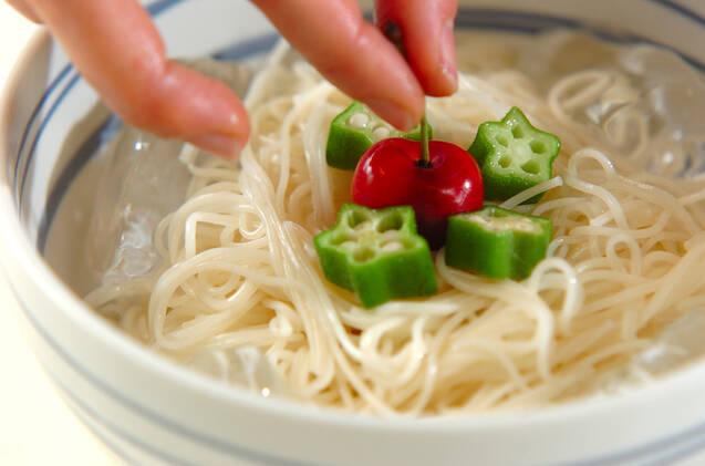 薬味たっぷり素麺の作り方の手順7