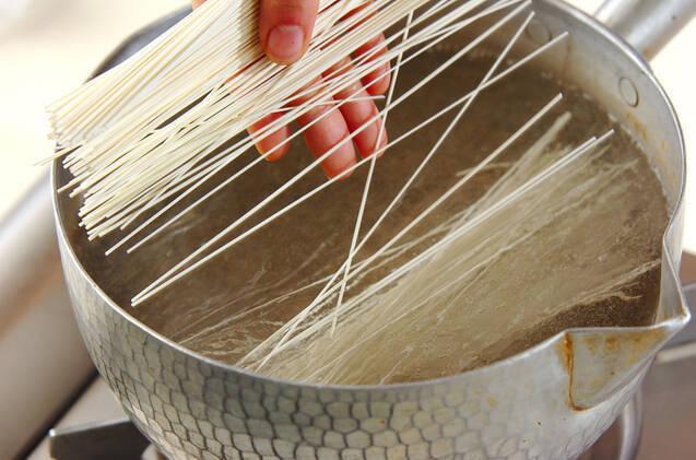 薬味たっぷり素麺の作り方の手順4