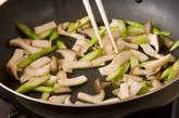 豚肉の梅しそソース和えの作り方2