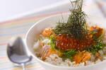 鮭とイクラの洋風親子丼