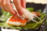金目鯛の中華蒸しの作り方2
