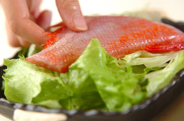 金目鯛の中華蒸しの作り方の手順5