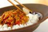 トマトと鶏ひき肉のキーマカレーの作り方の手順5